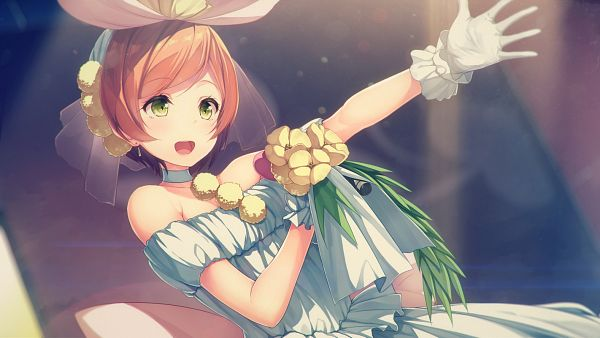 Tags: Anime, Shiva (Executor), Love Live!, Hoshizora Rin, PNG Conversion, Love wing bell