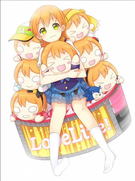 Tags: Anime, Pixiv Id 12555597, Love Live!, Sonic the Hedgehog, Sonic the Hedgehog (Character), Hoshizora Rin, Fanart, Pixiv, Fanart From Pixiv