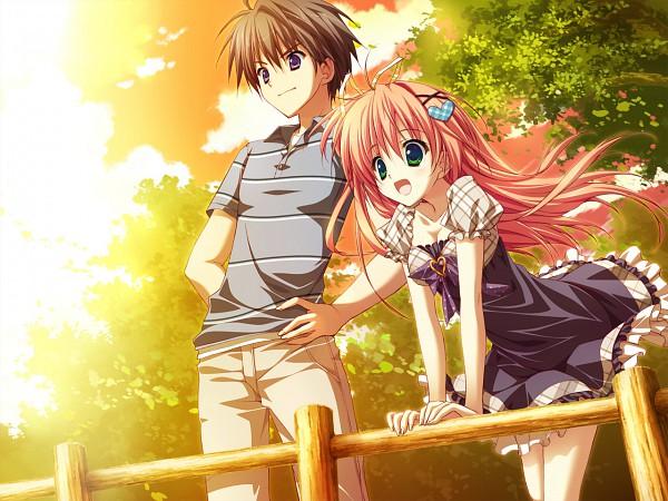 Tags: Anime, Ryohka, feng, Hoshizora e Kakaru Hashi, Hoshino Kazuma, Nakatsugawa Ui, Heart Hair Ornament, Heart Clip, CG Art, A Bridge To The Starry Skies
