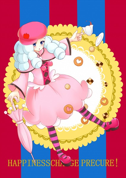Tags: Anime, Pixiv Id 4507006, HappinessCharge Precure!, Hosshiiwa, Closed Umbrella, Fanart From Pixiv, Pixiv, Fanart