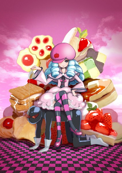 Tags: Anime, Pixiv Id 133294, HappinessCharge Precure!, Hosshiiwa, Sandwich, Pink Sky, Fanart, Fanart From Pixiv, Character Request, Pixiv