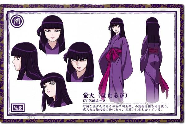Tags: Anime, Basilisk, Hotarubi, Official Art, Character Sheet, Official Character Information