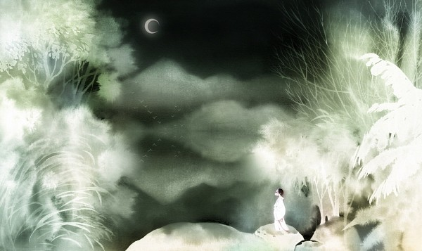Tags: Anime, Pixiv Id 915120, Natsume Yuujinchou, Hotarubi no Mori e, Watercolor, Fanart, Traditional Media, Pixiv, Into The Forest Of Fireflies Light