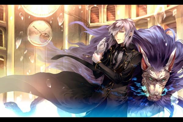 Tags: Anime, Sunakumo, Shin Megami Tensei: Devil Survivor 2, Cerberus (Shin Megami Tensei), Hotsuin Yamato, Library, Medal, Chimera, Fanart, Pixiv