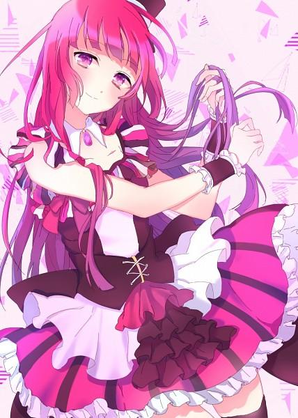Tags: Anime, Satoimo Chika, PriPara, Houjou Sophie, Striped Skirt, Mobile Wallpaper, Pixiv, Fanart, Fanart From Pixiv