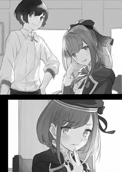 Tags: Anime, Supertie, Houkago wa Isekai Kissa de Coffee wo, Yuu (Houkago Wa Isekai Kissa De Coffee Wo), Linaria (Houkago Wa Isekai Kissa De Coffee Wo), Official Art, Novel Illustration