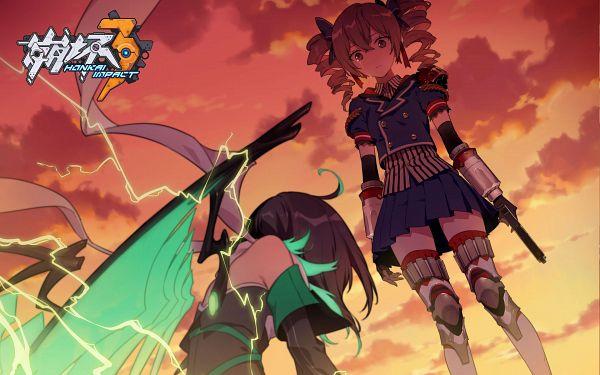 Tags: Anime, miHoYo, Houkai 3rd, Bronya Zaychik, Wendy (Houkai 3rd), Official Art, Official Wallpaper, Wallpaper, Artist Request, Honkai Impact 3rd