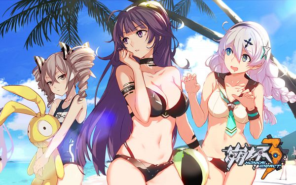 Tags: Anime, miHoYo, Houkai 3rd, Raiden Mei, Bronya Zaychik, Kiana Kaslana, Homu (Houkai 3rd), Artist Request, Official Art, Official Wallpaper, Wallpaper, Honkai Impact 3rd