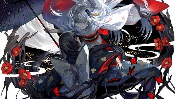 Tags: Anime, Rifsom, Houkai Gakuen, Raiden Mei, Official Art, Character Request, Wallpaper, Guns Girl