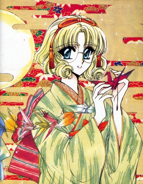 Tags: Anime, CLAMP, Magic Knight Rayearth, Hououji Fuu, Origami, Official Art