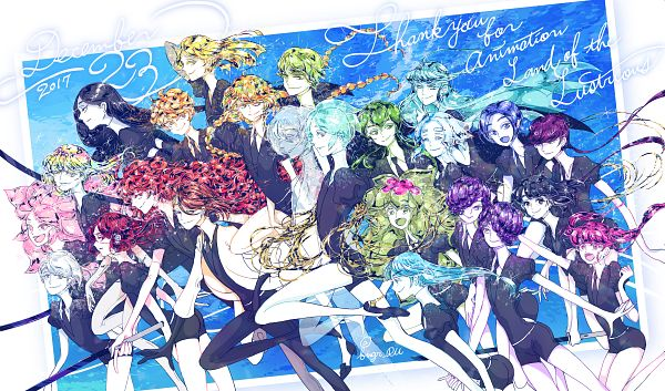 Tags: Anime, Pixiv Id 298133, Houseki no Kuni, Yellow Diamond, Hemimorphite, Euclase (Houseki no Kuni), Benitoite (Houseki no Kuni), Amethyst (Houseki no Kuni), Jade (Houseki no Kuni), Sphene, Morganite (Houseki no Kuni), Neptunite (Houseki no Kuni), Diamond (Houseki no Kuni), Land Of The Lustrous