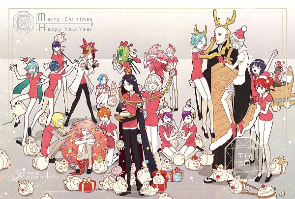 Tags: Anime, Pixiv Id 4389932, Houseki no Kuni, Rutile (Houseki no Kuni), Padparadscha, Yellow Diamond, Alexandrite (Houseki no Kuni), Goshenite (Houseki no Kuni), Lunarian, Amethyst (Houseki no Kuni), Antarcticite, Shiro (Houseki no Kuni), Euclase (Houseki no Kuni), Land Of The Lustrous