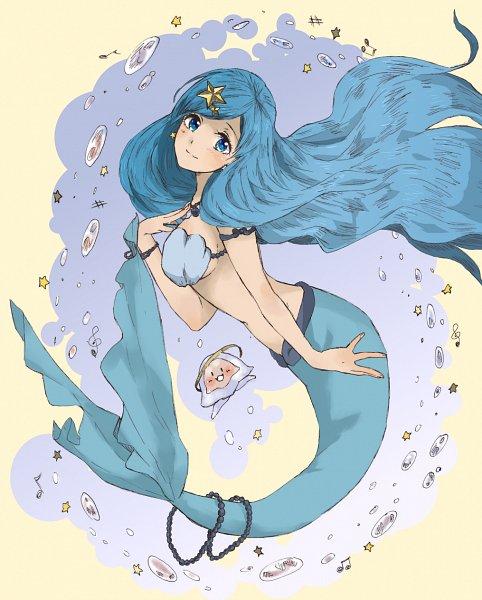 Tags: Anime, Pixiv Id 4106948, Mermaid Melody Pichi Pichi Pitch, Houshou Hanon, Fanart From Pixiv, Pixiv, Fanart