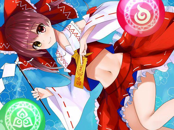 Tags: Anime, Pixiv Id 17705761, Houshou Marine, Marine Ch., Hololive, Touhou (Cosplay), Hakurei Reimu (Cosplay)