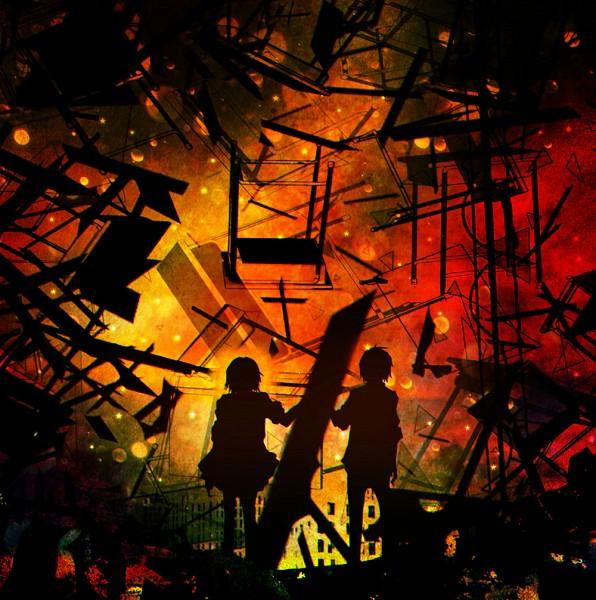 Tags: Anime, Harada Miyuki, VOCALOID, Tsuji (Sekai Seifuku), Fan Character, Azuma (Sekai Seifuku), Traditional Media, How to Sekai Seifuku, Watercolor, How To Dominate The World