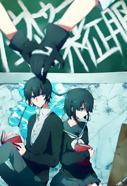 Tags: Anime, Asuna (Pixiv2468371), VOCALOID, Azuma (Sekai Seifuku), Tsuji (Sekai Seifuku), How to Sekai Seifuku, Mobile Wallpaper, How To Dominate The World