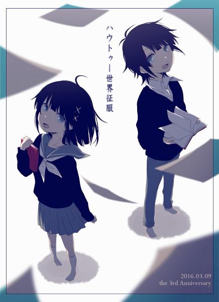 Tags: Anime, Pixiv Id 2468662, Azuma (Sekai Seifuku), Tsuji (Sekai Seifuku), How to Sekai Seifuku, How To Dominate The World