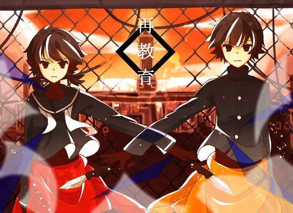 Tags: Anime, Rirako, Azuma (Sekai Seifuku), Tsuji (Sekai Seifuku), Fanart From Pixiv, Pixiv, Fanart, How to Sekai Seifuku, How To Dominate The World