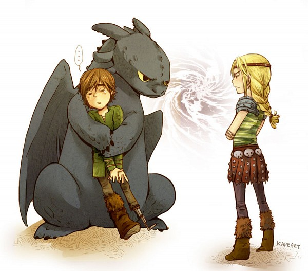 Tags: Anime, Kadeart, How to Train Your Dragon, Astrid Hofferson, Hiccup Horrendous Haddock III, Toothless, Jealousy, Dreamworks