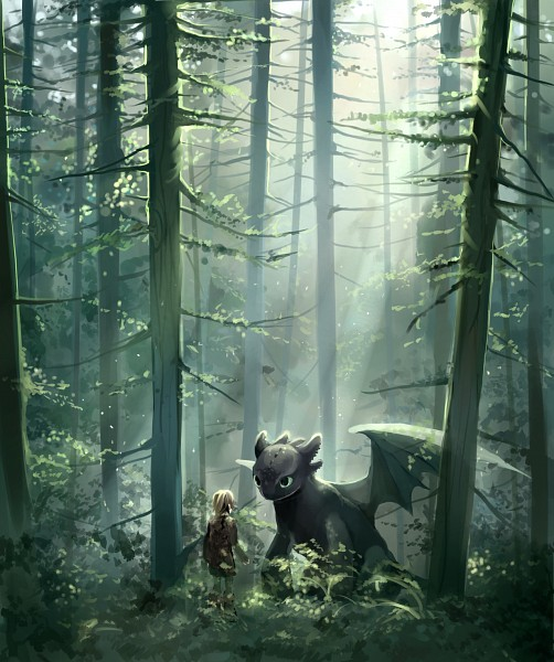 Tags: Anime, Iya-chen, How to Train Your Dragon, Toothless, Hiccup Horrendous Haddock III, Fanart, Dreamworks, PNG Conversion, Tumblr, Fanart From DeviantART, deviantART, Fanart From Tumblr