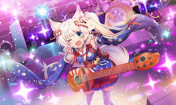 Tags: Anime, Show by Rock!! Mashumairesh!!, Show By Rock!! Fes A Live, Howan, Stage, Official Card Illustration, Official Art