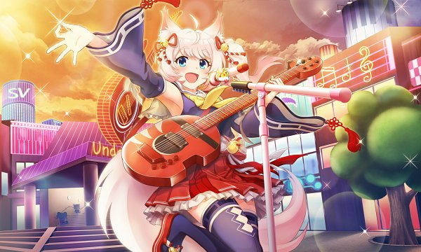 Tags: Anime, Show by Rock!! Mashumairesh!!, Show By Rock!! Fes A Live, Howan, Official Art, Official Card Illustration