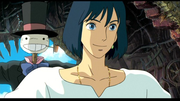 Tags: Anime, Studio Ghibli, Howl no Ugoku Shiro, Turnip Head, Howl, Scarecrow, Screenshot, Wallpaper