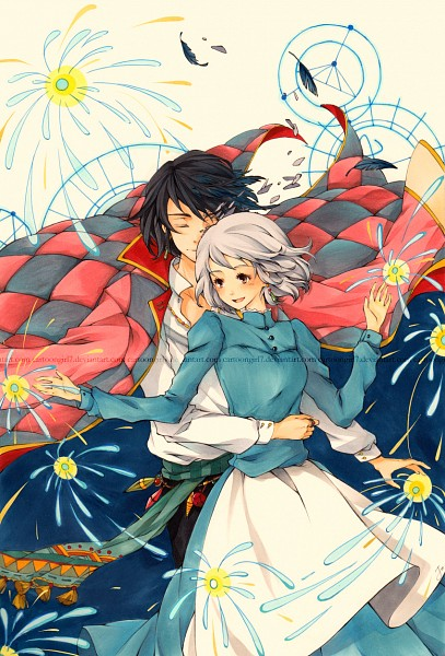 Tags: Anime, Cartoongirl7, Howl no Ugoku Shiro, Sophie Hatter, Howl, deviantART, Mobile Wallpaper, Howl's Moving Castle