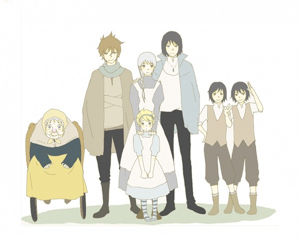 Tags: Anime, Pixiv Id 5286870, Howl no Ugoku Shiro, Sophie Hatter, Markl, Howl, Witch of the Waste, Wheel, Wheelchair, Howl's Moving Castle