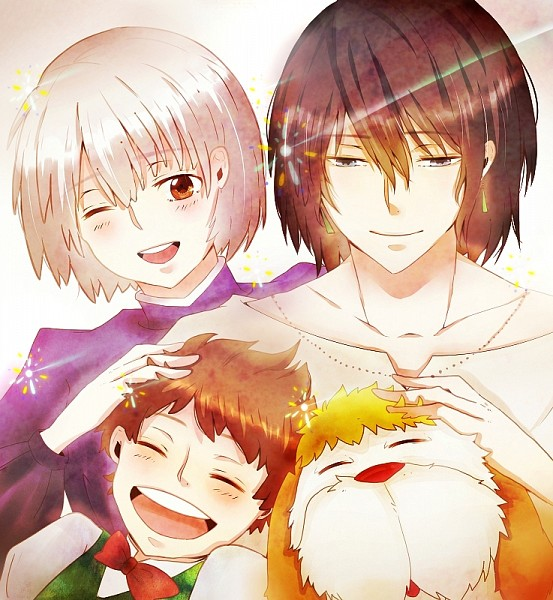 Tags: Anime, Pixiv Id 2625436, Howl no Ugoku Shiro, Markl, Howl, Heen, Sophie Hatter, Pixiv, Fanart From Pixiv, Fanart, Howl's Moving Castle