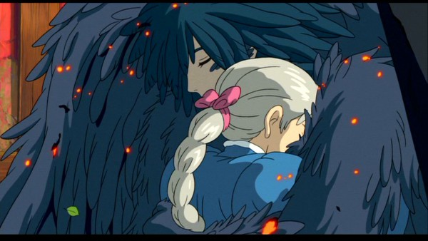 Tags: Anime, Studio Ghibli, Howl no Ugoku Shiro, Sophie Hatter, Howl, Facebook Cover, Screenshot, Wallpaper, Howl's Moving Castle