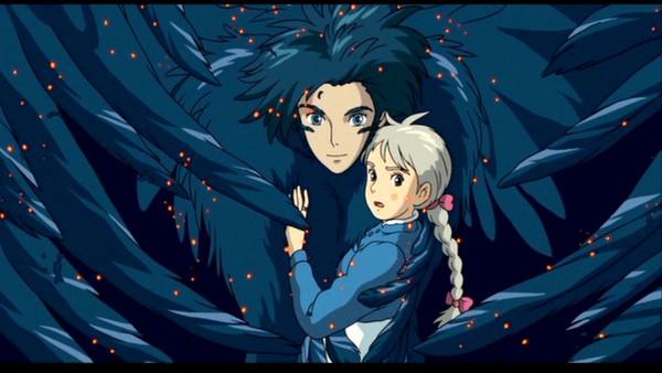 Tags: Anime, Studio Ghibli, Howl no Ugoku Shiro, Sophie Hatter, Howl, Facebook Cover, Screenshot, Wallpaper, Howl's Moving Castle