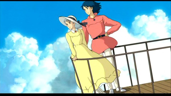 Tags: Anime, Studio Ghibli, Howl no Ugoku Shiro, Sophie Hatter, Howl, Wallpaper, Facebook Cover, Screenshot, Howl's Moving Castle