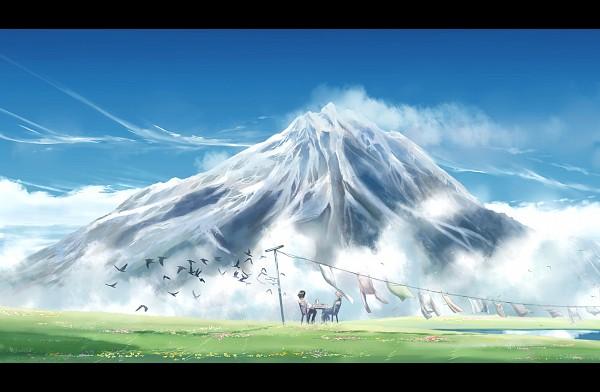 Tags: Anime, Megatruh, Howl no Ugoku Shiro, Howl, Sophie Hatter, Surreal, Laundry, Fanart From DeviantART, deviantART, Fanart, Howl's Moving Castle