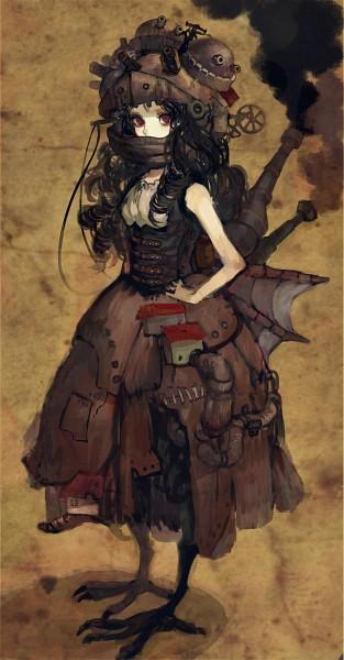 Tags: Anime, Pixiv Id 3904227, Howl no Ugoku Shiro, Detailed, Steampunk, Machine, Howl's Moving Castle