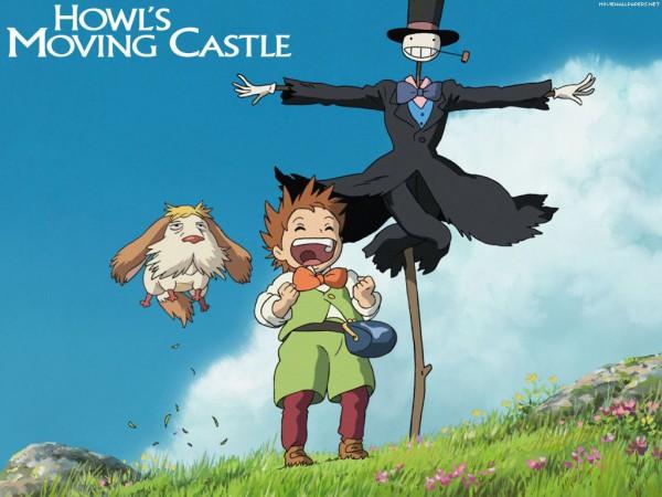 Tags: Anime, Studio Ghibli, Howl no Ugoku Shiro, Markl, Heen, Turnip Head, Scarecrow, Wallpaper, Howl's Moving Castle