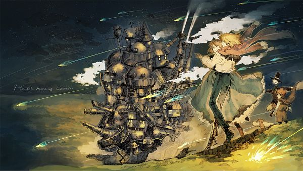 Tags: Anime, Kurohal422, Howl no Ugoku Shiro, Sophie Hatter, Heen, Markl, Howl, Turnip Head, PNG Conversion, Fanart, Fanart From Pixiv, Pixiv, Facebook Cover, Howl's Moving Castle