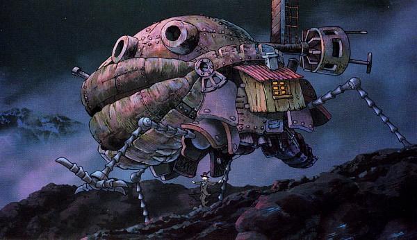 Tags: Anime, Studio Ghibli, Howl no Ugoku Shiro, Steampunk, Screenshot, Howl's Moving Castle