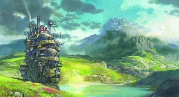 Tags: Anime, Studio Ghibli, Howl no Ugoku Shiro, Steampunk, Facebook Cover, Screenshot, Official Art, Howl's Moving Castle