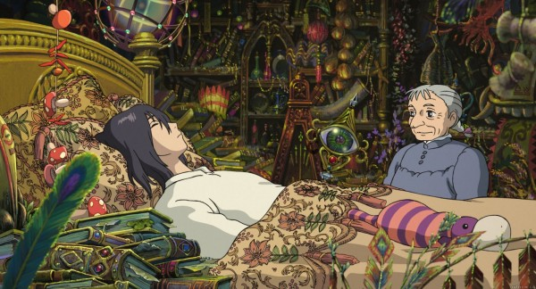 Tags: Anime, Studio Ghibli, Howl no Ugoku Shiro, Howl, Sophie Hatter, Messy Room, Facebook Cover, Official Art, Howl's Moving Castle