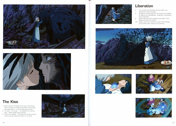Tags: Anime, Studio Ghibli, Howl no Ugoku Shiro, The Art Of Howl's Moving Castle, Calcifer, Markl, Witch of the Waste, Howl, Heen, Sophie Hatter, Howl's Moving Castle