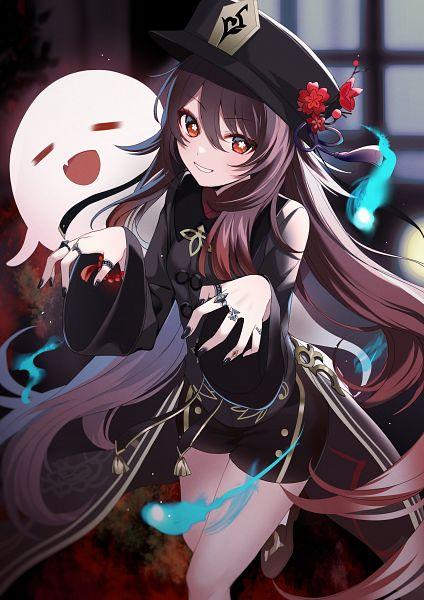 Tags: Anime, Pixiv Id 2496550, Genshin Impact, Hu Tao, Fanart From Pixiv, Pixiv, Fanart