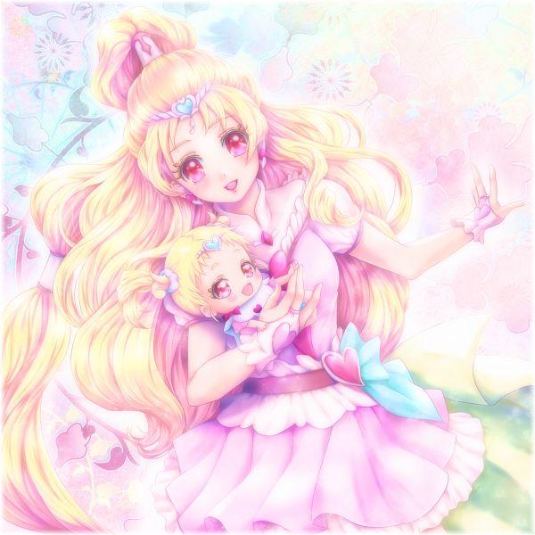Tags: Anime, Pixiv Id 190253, HUGtto! Precure, Cure Tomorrow, Hug-tan, Pixiv, Fanart, Fanart From Pixiv