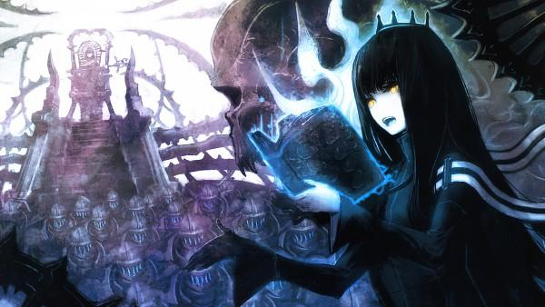 Tags: Anime, Huke, Black★Rock Shooter, Dragon Slayer, HD Wallpaper, Facebook Cover, Colorization, Wallpaper, Pixiv