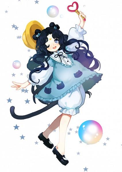 Tags: Anime, Icefay9537, Bishoujo Senshi Sailor Moon, Human Luna, Luna (Sailor Moon), Yellow Hat, Fanart From Pixiv, Fanart, Mobile Wallpaper, Pixiv
