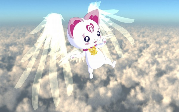 Tags: Anime, Pixiv Id 1895520, Suite Precure♪, Hummy, Winged Cat, Wallpaper