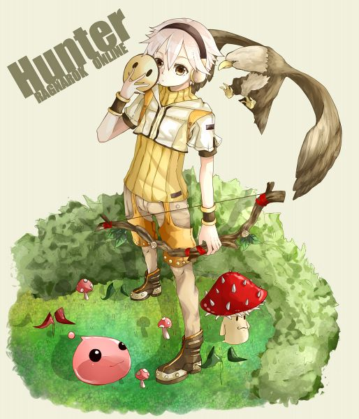 Tags: Anime, Tuyuki Orikyara, RAGNARÖK ONLINE, Poring, Hunter (Ragnarok Online), Spore (Ragnarok Online), PNG Conversion, Pixiv, Second Class