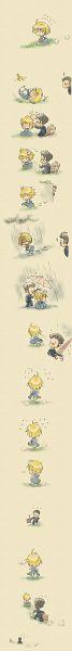 Tags: Anime, Pixiv Id 113121, Hunter x Hunter, Leorio Paladiknight, Kurapika, Caressing, Suitcase, Bump, Comfort, Comic