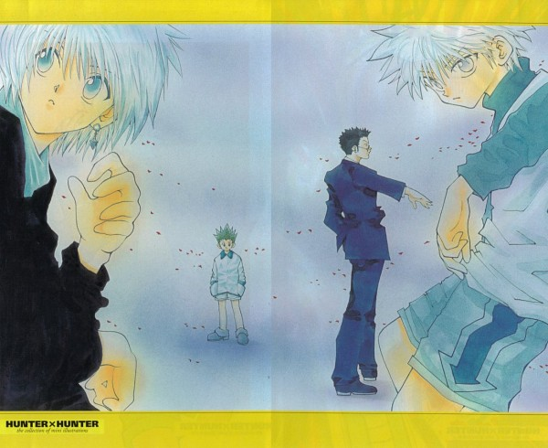 Tags: Anime, Hunter x Hunter, Gon Freaks, Kurapika, Killua Zoldyck, Leorio Paladiknight, Official Art