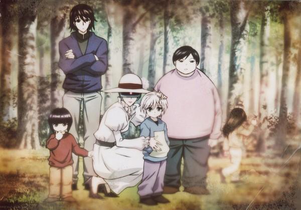 Tags: Anime, MADHOUSE, Hunter x Hunter, Kikyo Zoldyck, Killua Zoldyck, Milluki Zoldyck, Illumi Zoldyk, Alluka Zoldyck, Kalluto Zoldyck, Scan, Official Art, Zoldyck Family